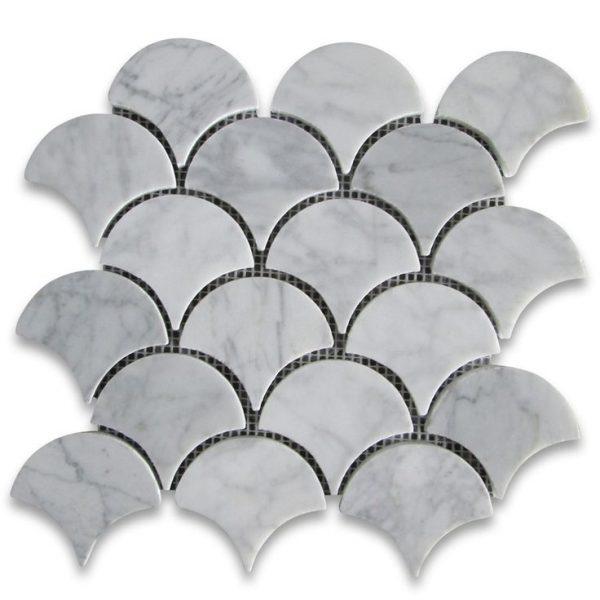 Carrara Fan Mosaic